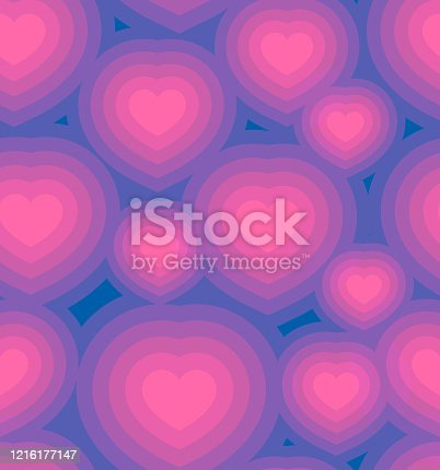 istock Seamless Hearts Love and Caring Background 1216177147