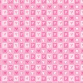 Seamless repeating wallpaper pattern of hearts for Valentine card or baby girl.