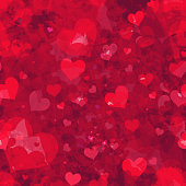 Seamless grunge hearts background. EPS10 vector illustration, global colors, easy to modify.