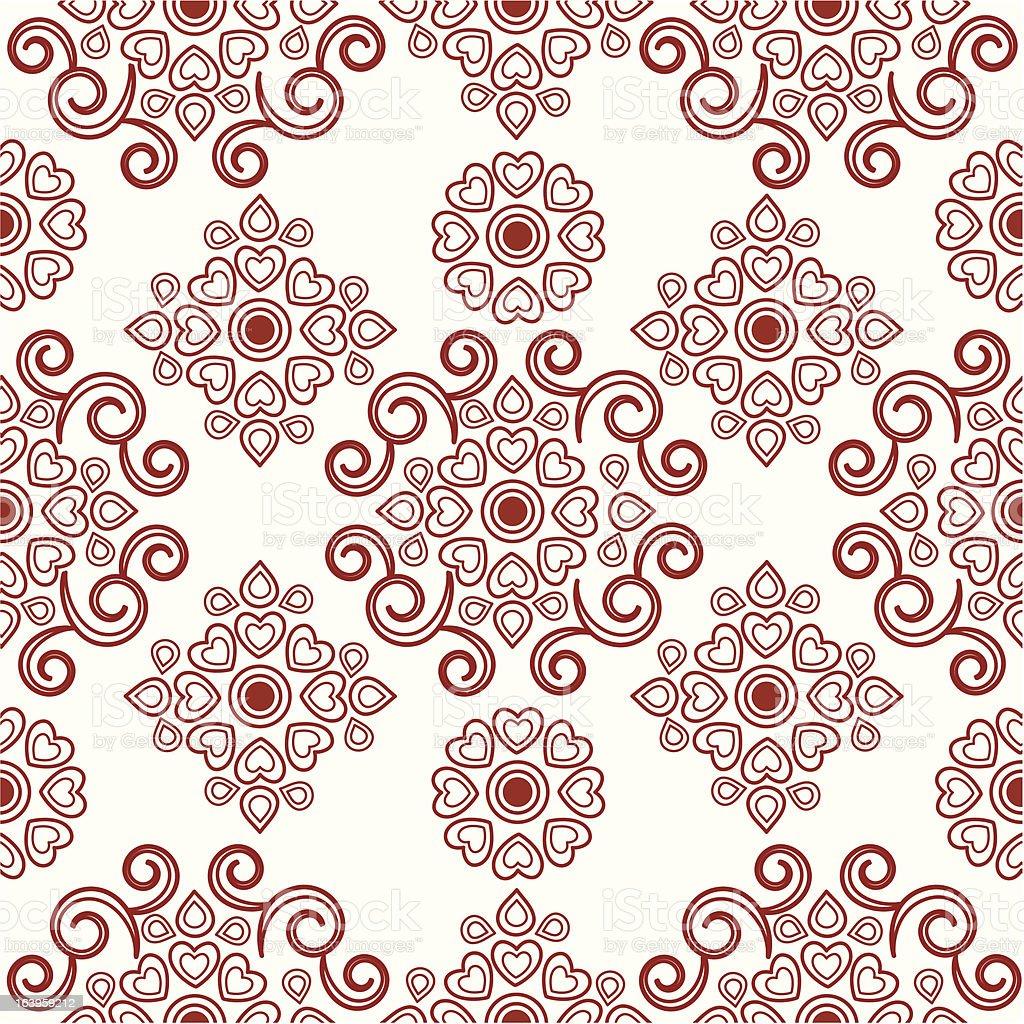 Seamless Henna Flower Design Stock Vector Art More Images Of