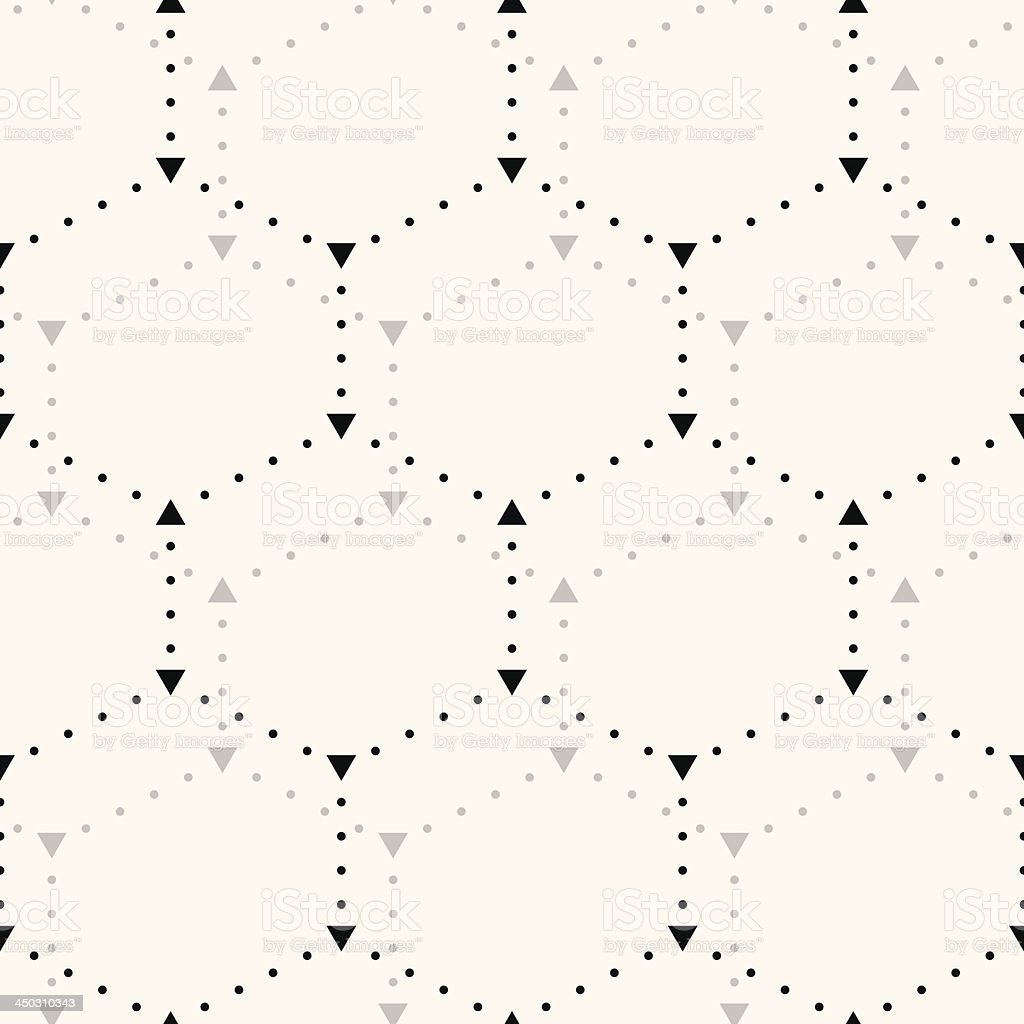 Seamless hexagon pattern. royalty-free stock vector art