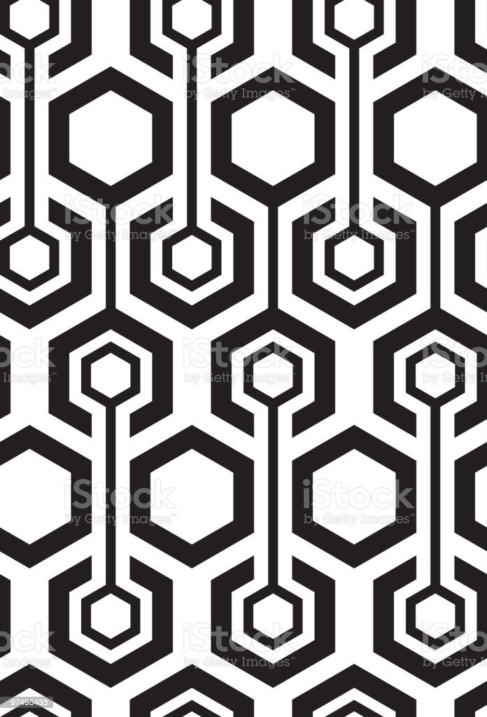 Seamless hexagon pattern royalty-free seamless hexagon pattern stock vector art & more images of 1970-1979