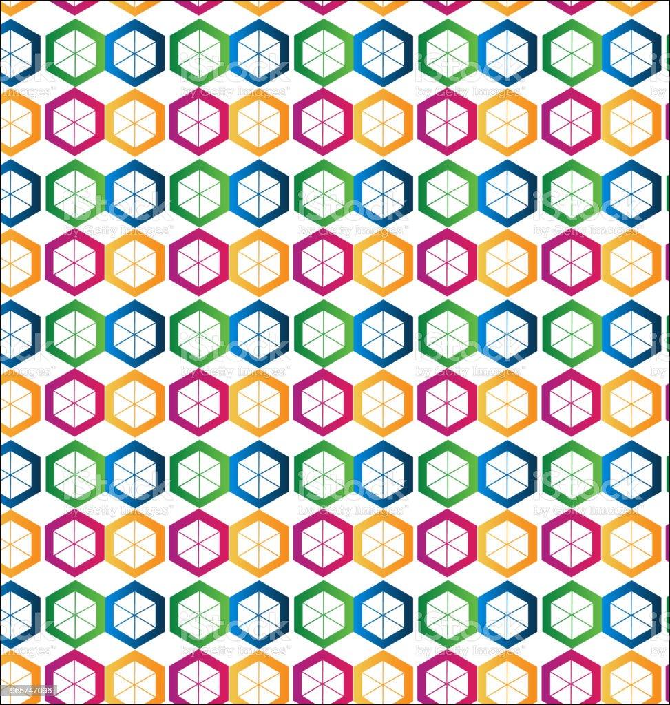 Seamless hexagon shape background - Векторная графика Абстрактный роялти-фри