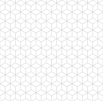 Seamless hexagonal grid pattern. Vector background hexaganal cube elements.