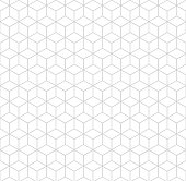 istock Seamless hexagonal grid pattern. Vector background hexaganal cube elements. 1222813982