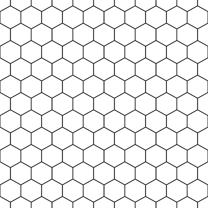 Seamless hexagonal pattern - vector geometric background