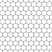 Seamless hexagonal pattern - vector geometric background