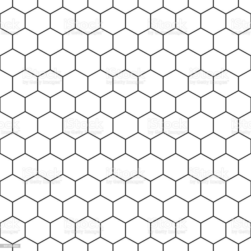 Seamless hexagonal pattern - vector geometric background vector art illustration