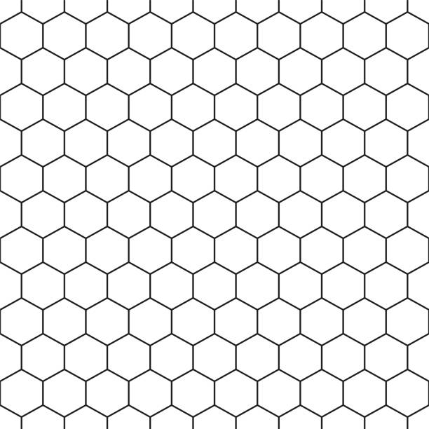 seamless hexagonal pattern - vector geometric background - tile pattern stock illustrations, clip art, cartoons, & icons
