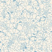 Hand drawn style floral pattern. Zip contains AI, PDF and Hi-res Jpeg formats.
