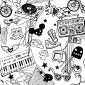 Grunge hippie background