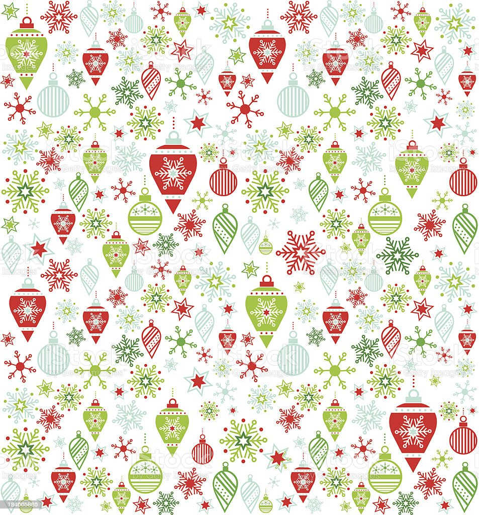 Seamless Holiday Ornament Pattern royalty-free seamless holiday ornament pattern stock vector art & more images of backgrounds