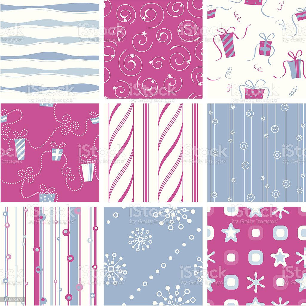 Seamless holiday pattern royalty-free stock vector art