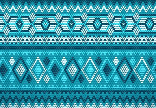 Seamless Holiday Sweater Background Knit Fabric Pattern