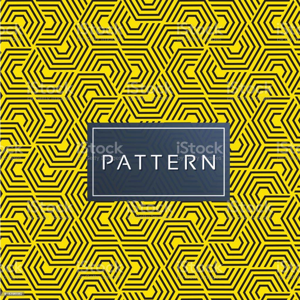 Seamless honeycomb Pattern Modern Yellow Background Vector Image vector art illustration