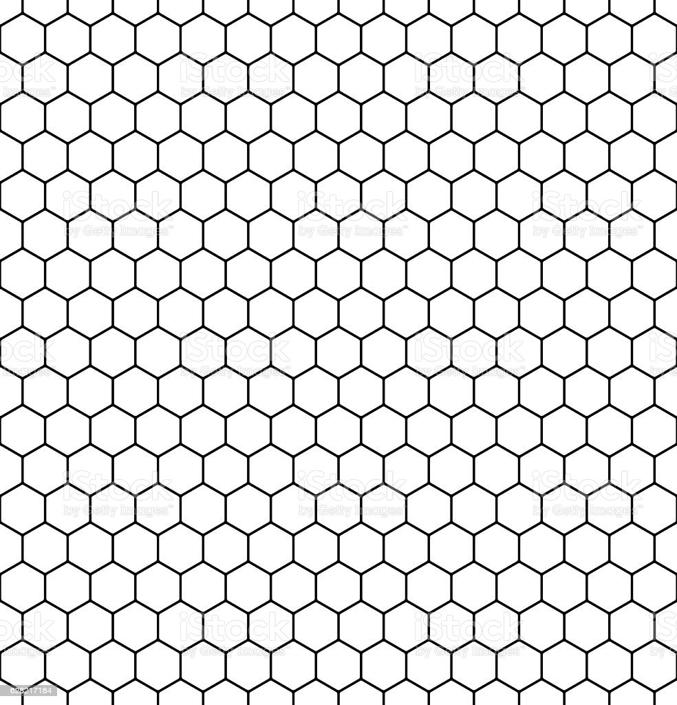 Seamless honeycomb pattern. Vector. vector art illustration