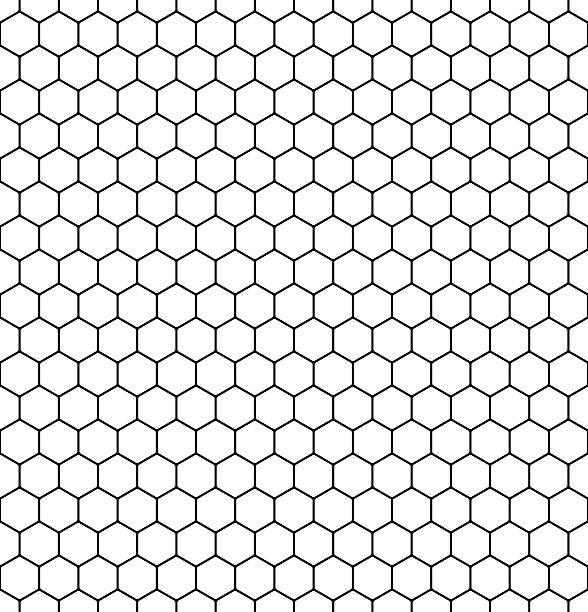illustrazioni stock, clip art, cartoni animati e icone di tendenza di seamless honeycomb pattern. vector. - favo