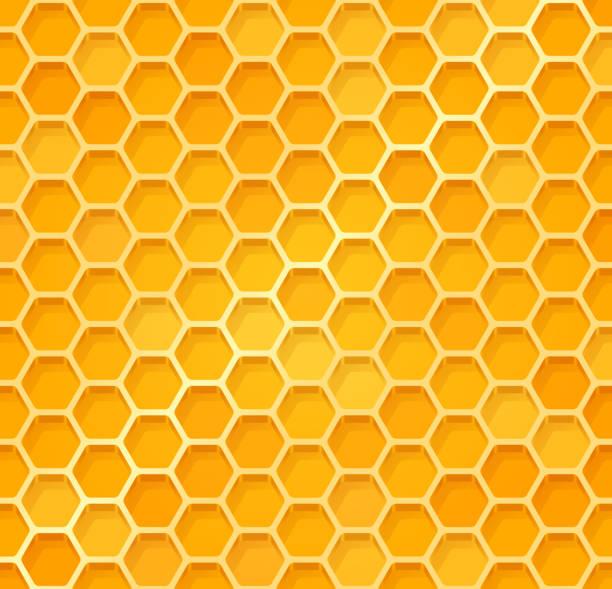 illustrazioni stock, clip art, cartoni animati e icone di tendenza di seamless honeycomb - favo