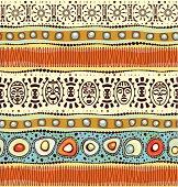 African ethnic seamless horizontal pattern, vector illustration.
