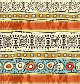 Seamless horizontal African pattern.