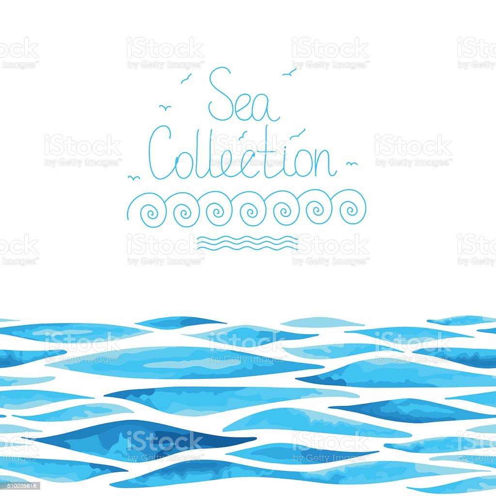 水平海を背景にシームレスな のイラスト素材 510225818 | istock
