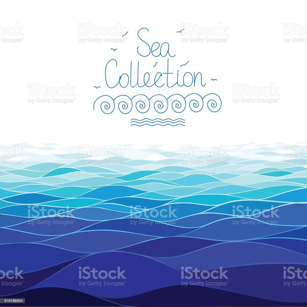 水平海を背景にシームレスな のイラスト素材 515193334 | istock