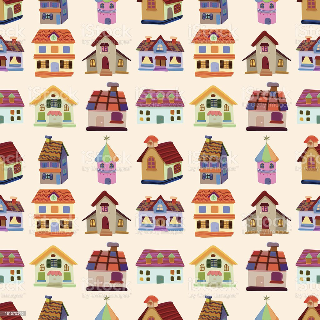 seamless house pattern royalty-free stock vector art
