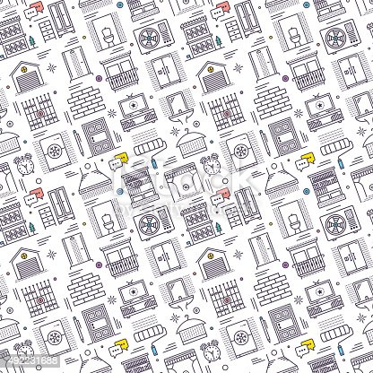 Seamless pattern background vector illustration for housing, furniture, housework, interior design compositions.
