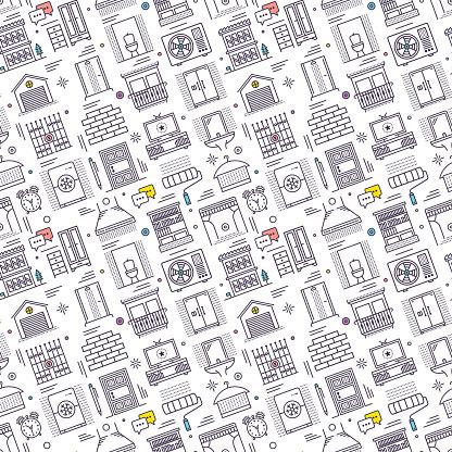 Seamless Housework Pattern