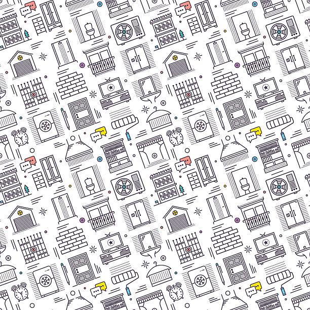 Motif sans couture faire le ménage - Illustration vectorielle