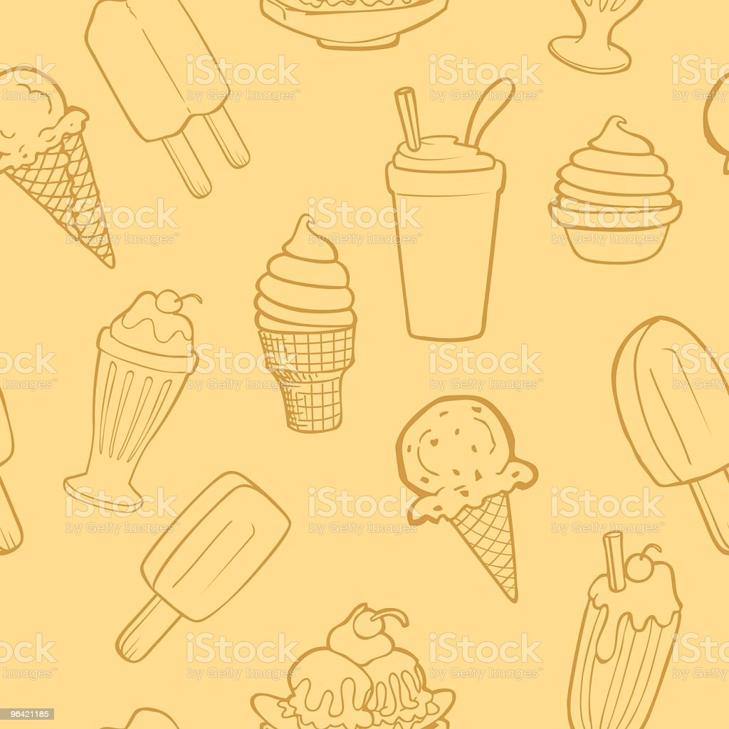 Seamless Ice Cream Background vector art illustration