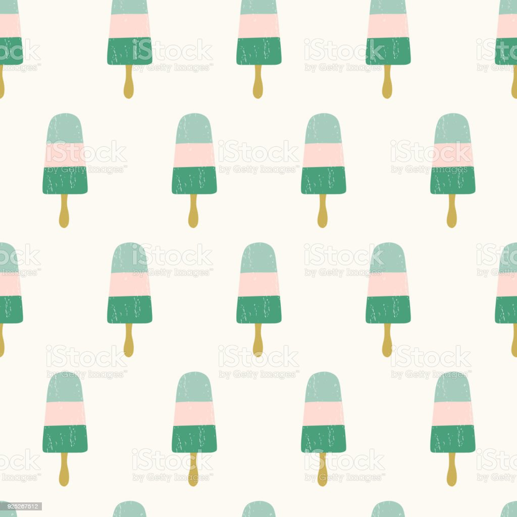 Seamless Ice Cream Wallpaper Royalty Free Stock Images: Seamless Ice Cream Pattern Cute Summer Background Stock