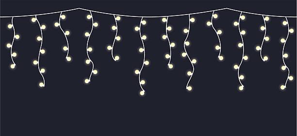 Seamless Icicle Christmas Lights vector art illustration