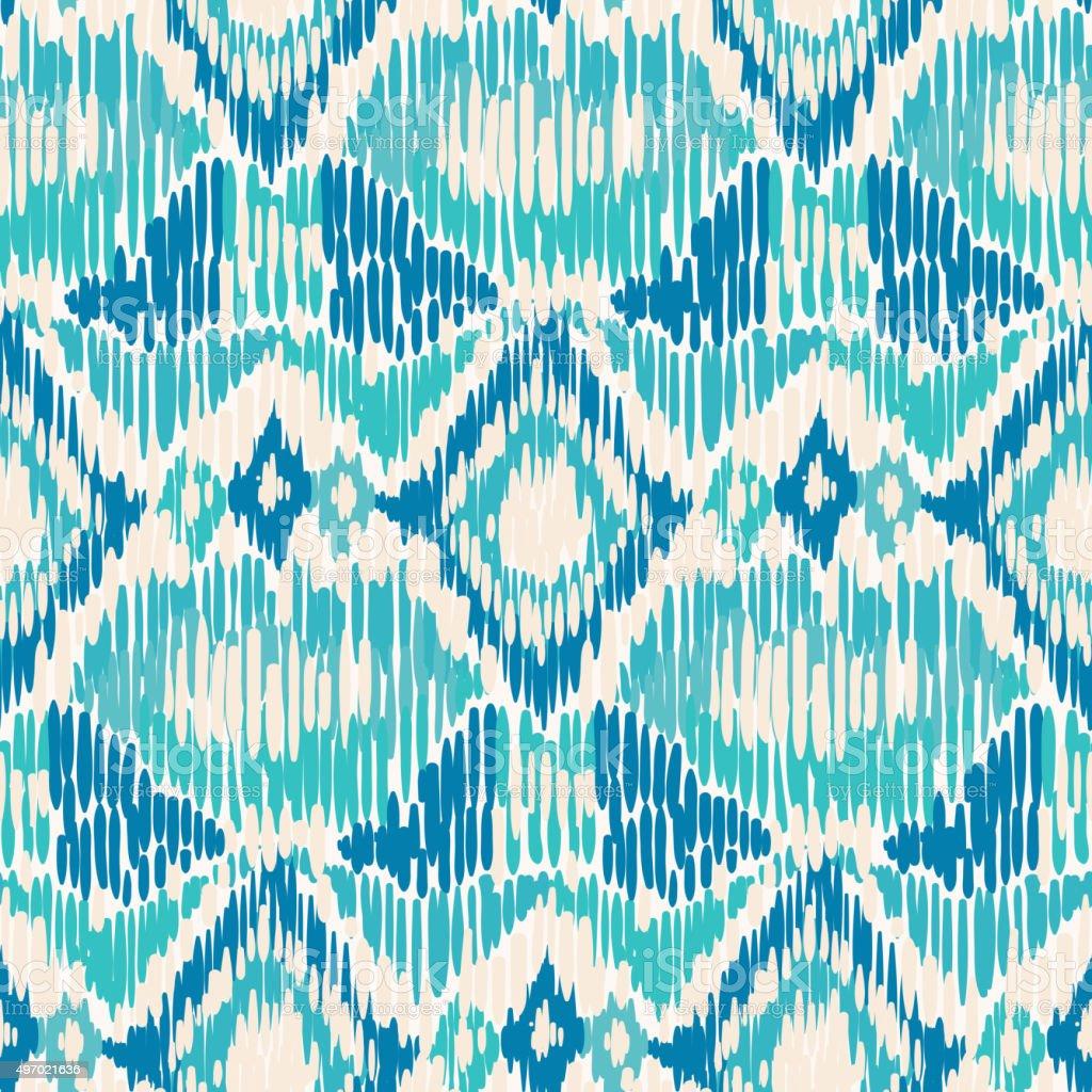 Seamless Ikat Pattern. vector art illustration