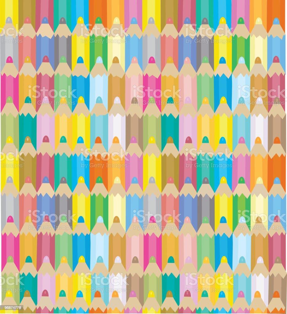 Nahtlose illustration der Farbe Stifte. Lizenzfreies nahtlose illustration der farbe stifte stock vektor art und mehr bilder von bildhintergrund