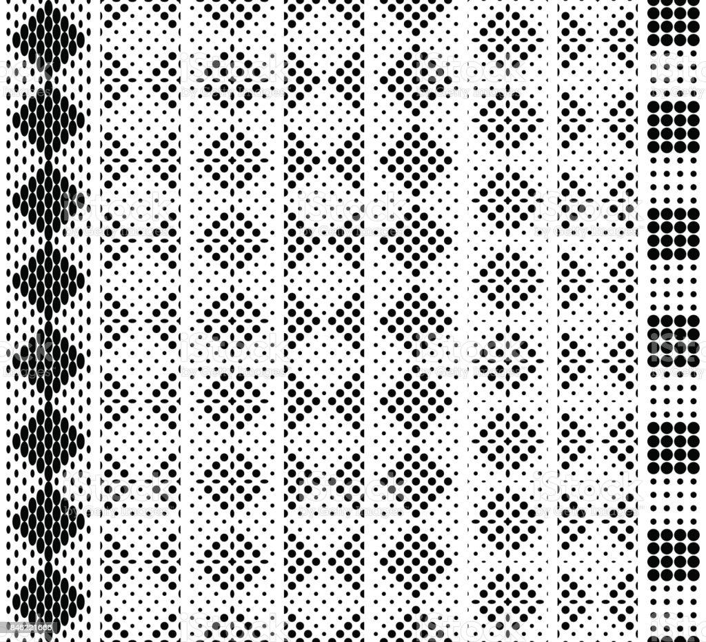 Black and white border fabric strip