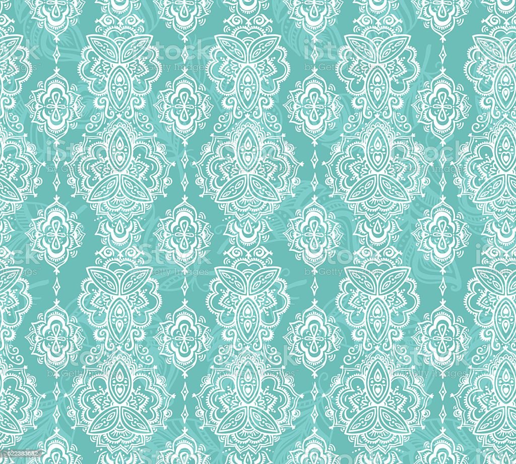 Seamless indian pattern based on traditional Asian floral elements Paisley.  - Illustration .