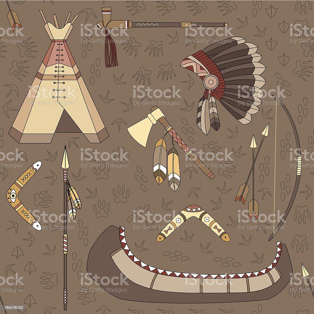 seamless indian pattern vector art illustration