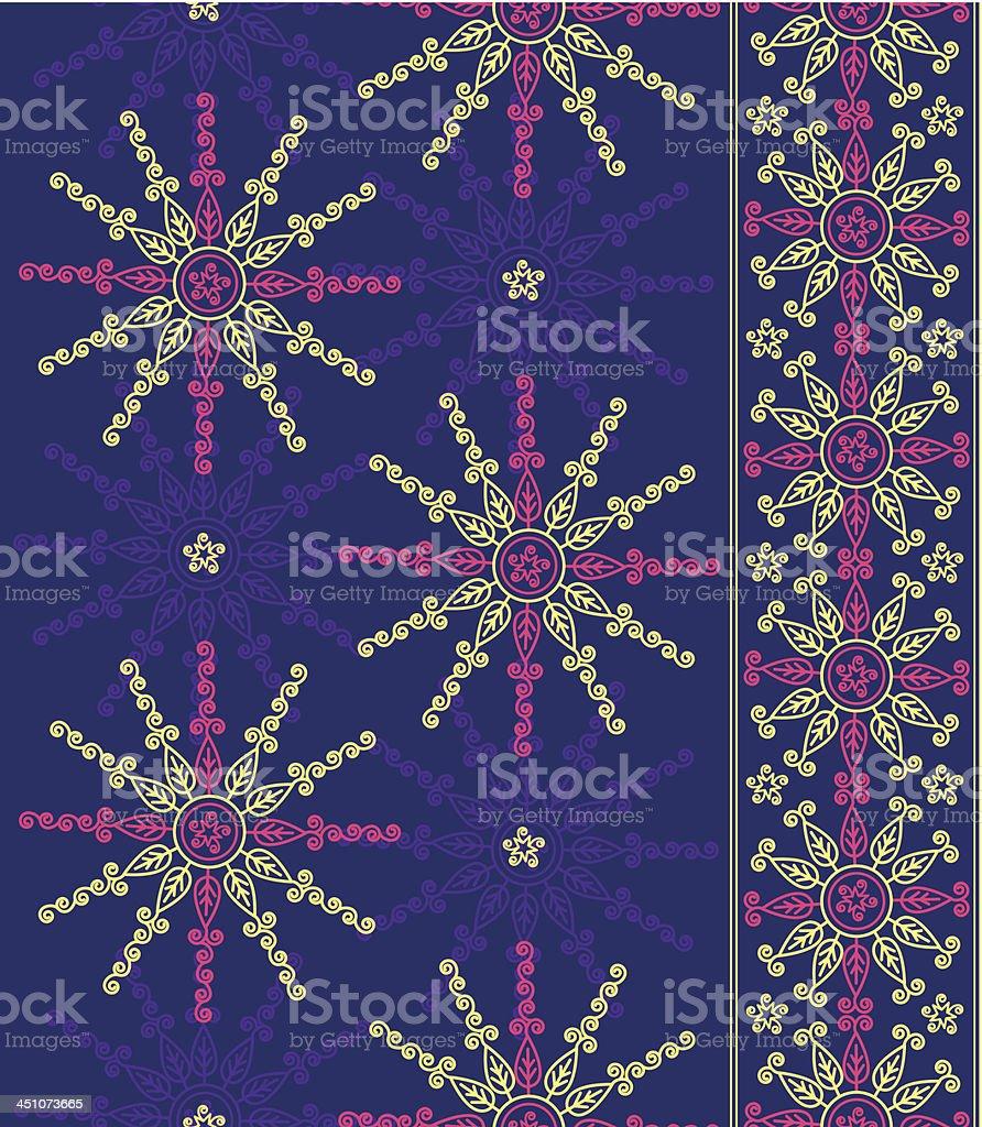Seamless Indian Sari Design