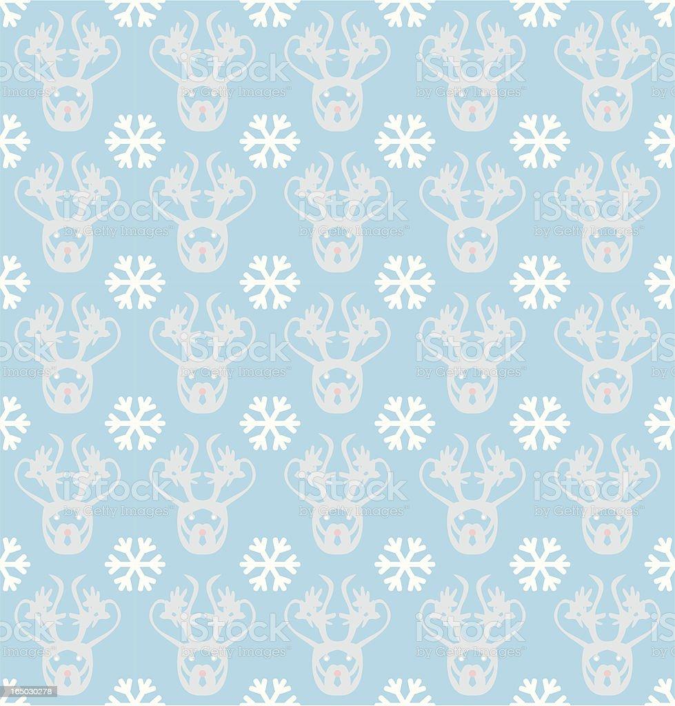 Seamless Inuit Reindeer Wallpaper ( Vector ) vector art illustration