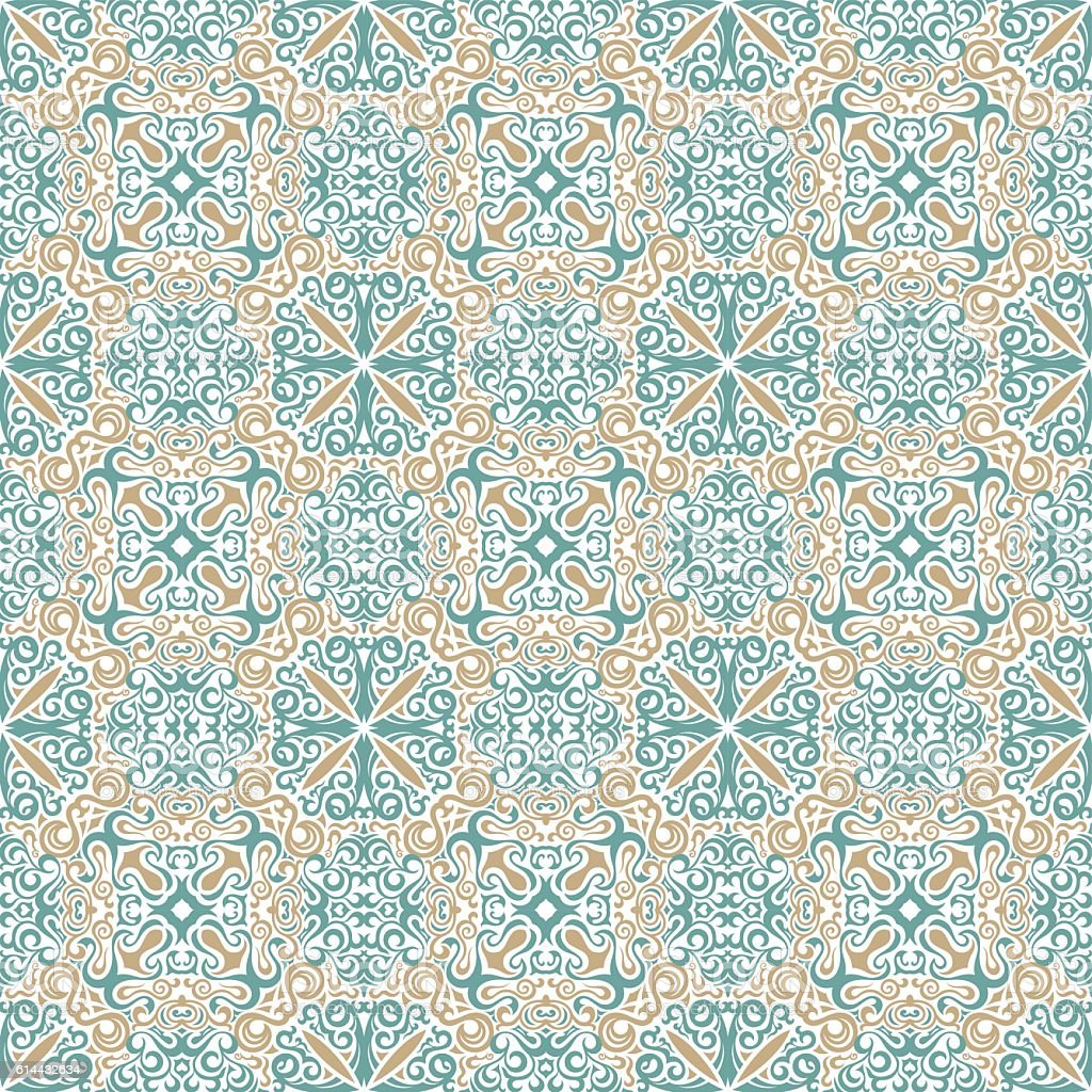 seamless islam pattern vintage floral background in pastel
