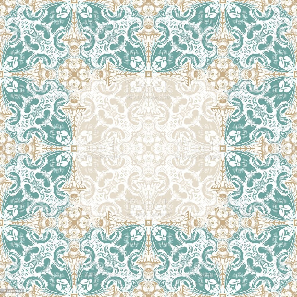 Seamless Islam Pattern Vintage Floral Background In Pastel Color