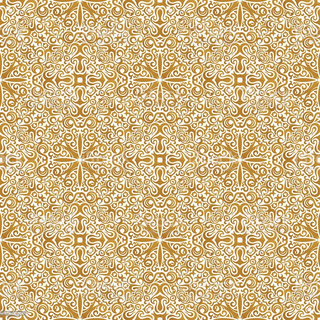 Seamless Islam Pattern Vintage Floral Background Stock