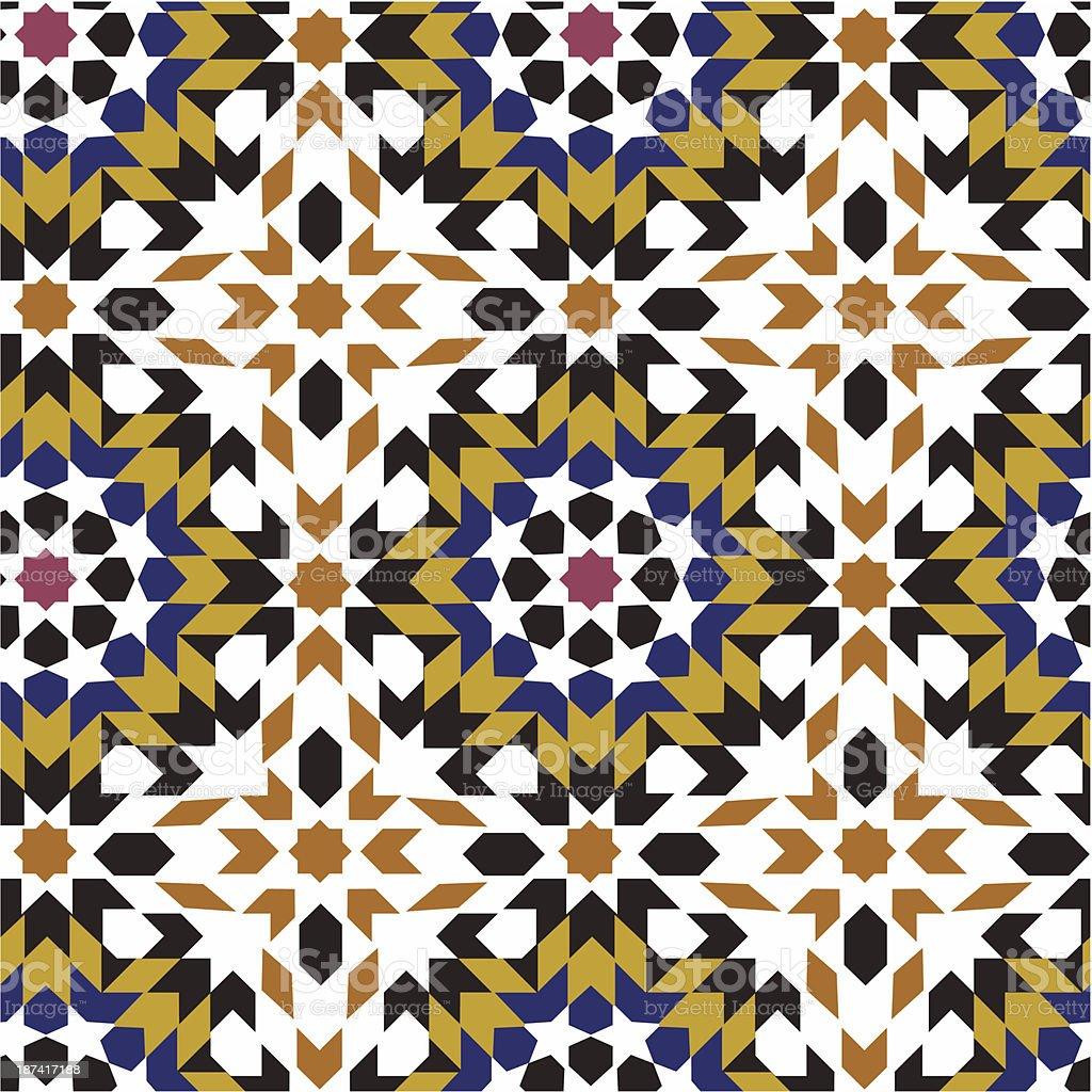 seamless islamic geometric pattern royalty-free stock vector art