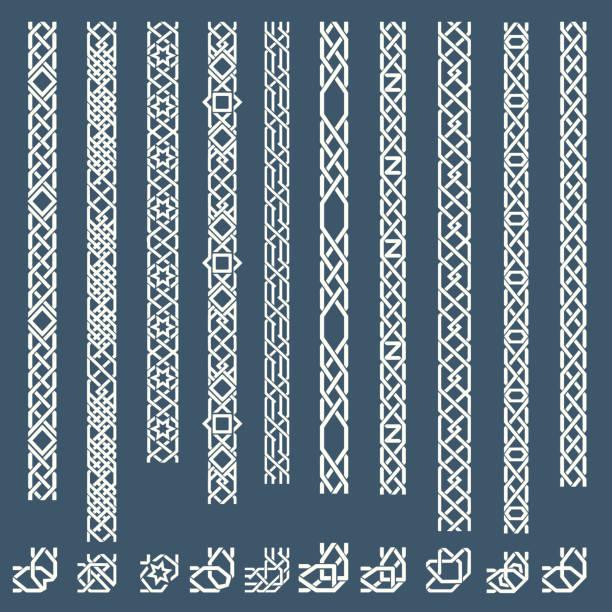 seamless islamic ornamental borders - 伊斯蘭教 幅插畫檔、美工圖案、卡通及圖標
