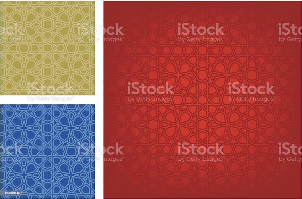 Seamless Islamic pattern vector art illustration