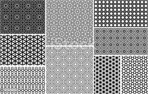 istock Seamless Islamic patterns 165586925