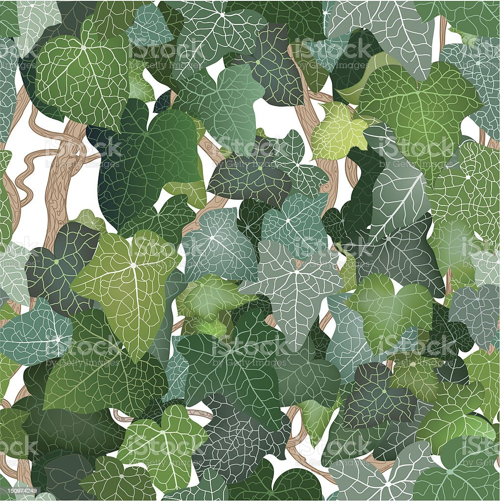 Seamless ivy leaves royalty-free stock vector art