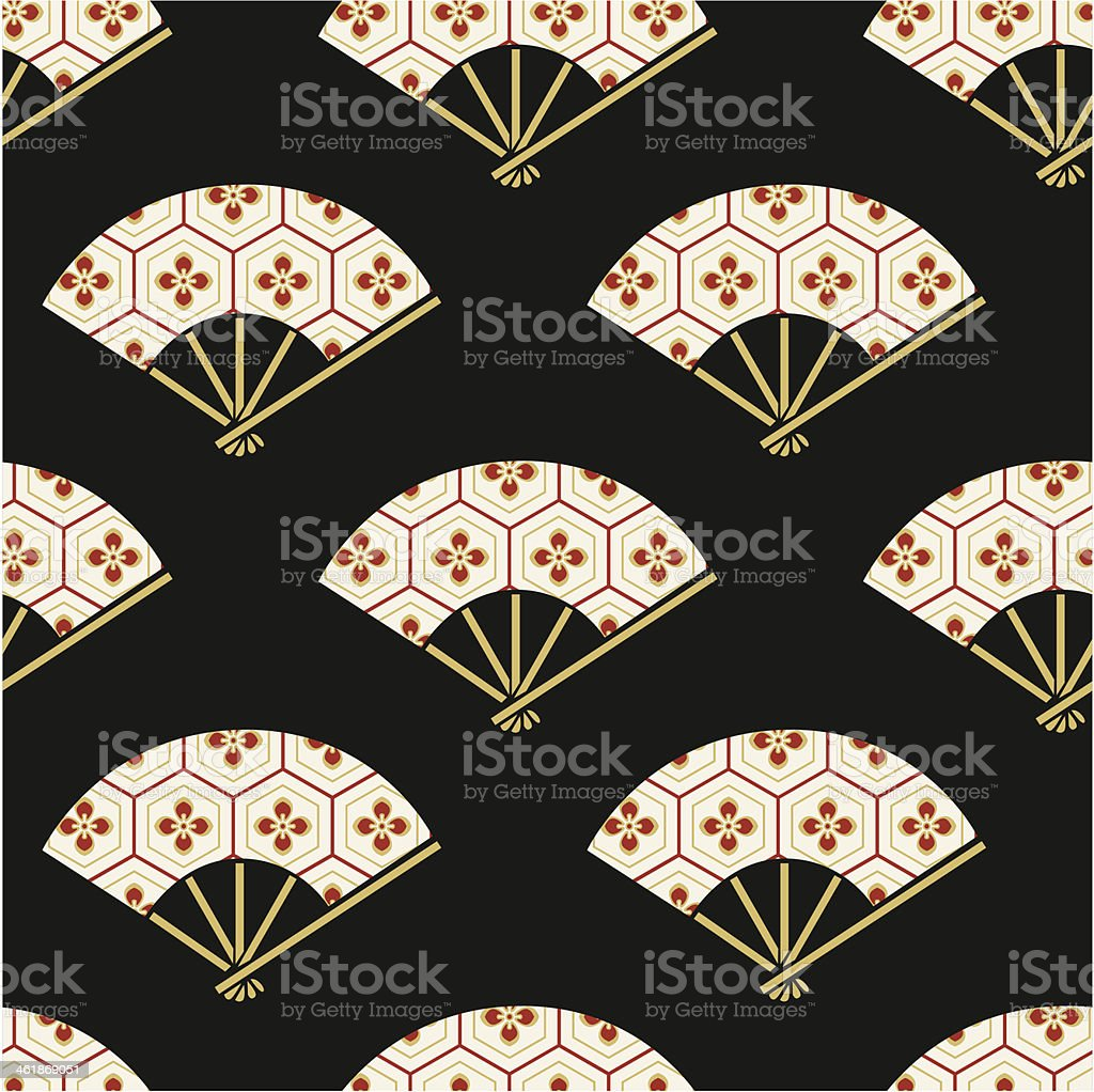 seamless japanese floral fan pattern royalty-free seamless japanese floral fan pattern stock vector art & more images of backgrounds