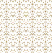 Beautiful Seamless japanese pattern kumiko for shoji screen, great design for any purposes. Japanese pattern background vector. Japanese traditional wall, shoji.Fine lines.